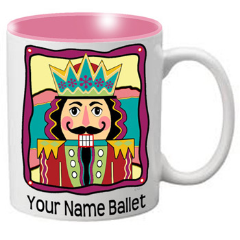 MG111: Nutcracker Ballet Mug - Colorful fun Nutcracker