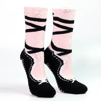 Pink and Black Pointe Slipper Heavy Weight Sock