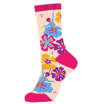 Multicolor Flower Sock with dancers