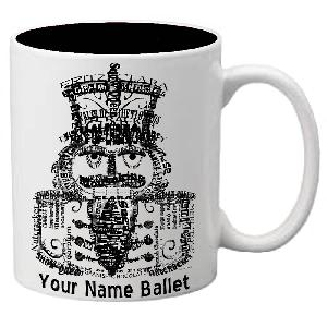 MG104: Nutcracker Ballet Mug - All Words Nutcracker