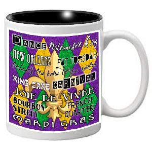 Nutcracker Ballet Mug - Mardigras4 - Mardi Gras Traditional words and colors