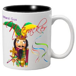 Nutcracker Ballet Mug - Mardigras5 - Fun Jester Nutcracker with words