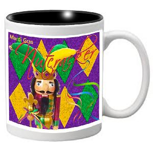 Nutcracker Ballet Mug - Mardigras6 - Nutcracker jester with diamond background