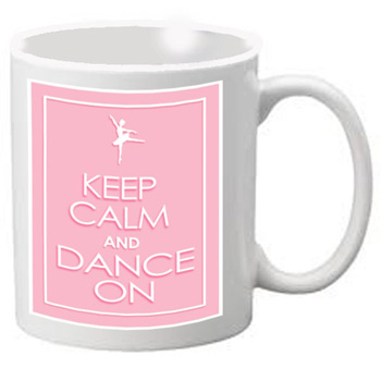 Nutcracker Ballet Mug  KCREC01  Keep Calm Pink Rectangle