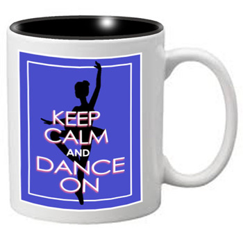 Nutcracker Ballet Mug - KCREC02 - Keep Calm Blue Rectangle