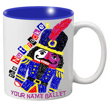 MG102: Nutcracker Ballet Mug - Slanted Nutcracker