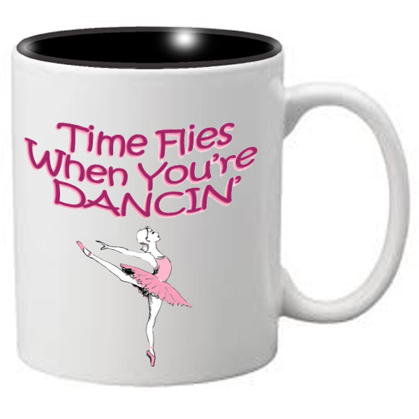 Nutcracker Ballet Mug  MGDANC05 Time Flies When You're Dancing