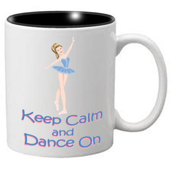 Nutcracker Ballet Mug  MGKC02 Keep Calm Blue Ballerina 02