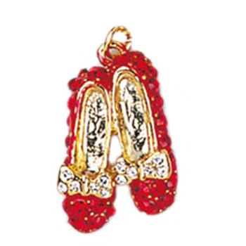 Wizard of Oz Themed Ruby Red Slippers Necklace